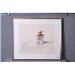"Olgo Tomlinson Artist Signed Framed Print, ""Twenty - Nineth of June, # 20/62"" w/cert on back, [ litt"