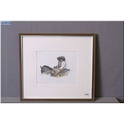 "Olgo Tomlinson Srtist Signed & Framed Print ""Champ, Artist's Proof"" [ two children w/horses}"