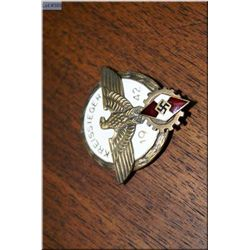 "WWII Bronze Kreissenger ""Hitlerjugend"" ( Hitler Youth ) Badge for children aged 10-14 years old"