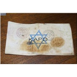 Kapo Armband worn by Nazi favoured Jewish Informants/Enforcers living in Concentration camps [ origi