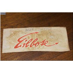 "KZ Lager Armband marked Auschwitz ""Eilbote"" [ Messenger/Post Office] usually worn by a young boy in"