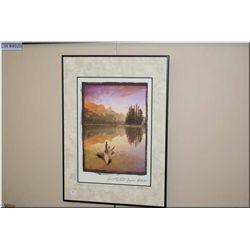 "Framed limited edition Daryl Benson print ""Spirit Island, Jasper, Alberta"" 44/50"