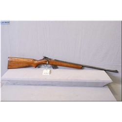 "Winchester mod 69A .22 LR cal clip fed bolt action Rifle w/25"" bbl [ blue finish, missing the back b"