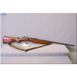 "Cooey mod 75 .22 LR cal single shot bolt action Rifle w/27"" bbl [ fading patchy blue finish, good pi"