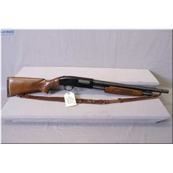 "lakefeild Mossberg mod 500A 12ga.3"" pump shotgun w/19"" bbl [appears v.g. blued finish pressed checke"