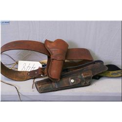 Lot : Three leather cartridge belts -