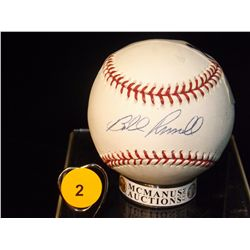 Autographed Bill Russel Baseball.  Rawlings Official MLB - appraised or estimated retail value $200.