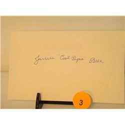 """James """"Cool Papa"""" Bell Die Cut Autograph - appraised or estimated retail value $200.  COA by Christo"""