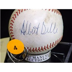 Belle & Carey Autographed Baseball.  Rawlings Official MLB autographed by Albert Belle and Herbert C