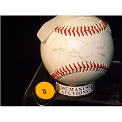 Brian Roberts Autographed Baseball.  Pro 2 Official League Baseball.  Appraised or estimated retail