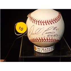 Daryl Evans Autographed Baseball.  Rawlings Official MLB.  Appraised or estimated retail value $150.