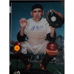 Yogi Berra Autographed Photo.  8x10 Color Photo.  Appraised or estimated retail value $300.  COA by