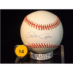 Pete Rose Autographed Baseball.  Rawlings Official MLB.  Appraised or estimated retail value $300.