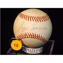 Ozzie Canseco Autographed Baseball.  Rawlings Official MLB.  Appraised or estimated retail value $15