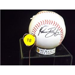 Dave Burba Autogrpahed Baseball.  Rawlings Official OLB3 League Ball.  Appraised or estimated retail