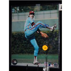 Steve Carlton Autogrpahed Photo.  8x10 Color Photo.  Appraised or estimated retail value $250.  COA