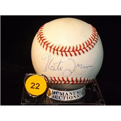 Monte Irvin Autographed Baseball.  Rawlings Official NLB.  Appraised or estimated retail value $500.