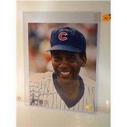 Ernie Banks Autogrpahed Photo.  8x10 Color Photo.  Appraised or estimated retail value $250.  COA by