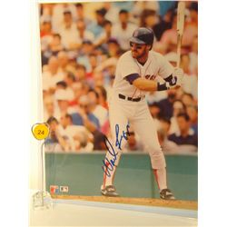 Wade Boggs Autographed Photo.  8x10 Color Photo.  Appraised or estimated retail value $250.  COA by
