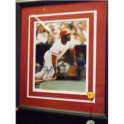 Joe Morgan Autographed Photo.  8x10 Color Photo.  Appraised or estimated retail value $250.  COA by
