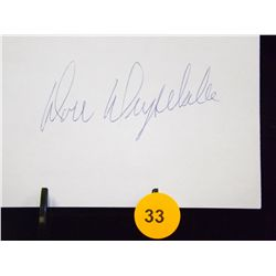 Don Drysdale Die Cut Autograph.  Appraised or estimated retail value $250.  COA by Christopher Moral