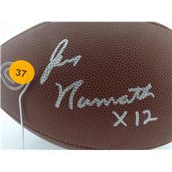 Joe Namath Autographed Football.  Wilson Official NFL Football.  Appraised or estimated retail value