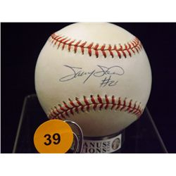 Sammy Sosa Autographed Baseball.  Rawlings Official NLB.  Appraised or estimated retail value $250.