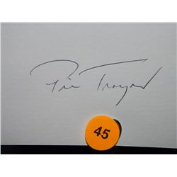 Pie Traynor Autographed Die Cut.  Appraised or estimated retail value $1000.  COA by Christopher Mor