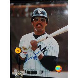 Reggie Jackson Autographed Photo.  8x10 Color Photo.  Appraised or estimated retail value $250.  COA