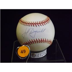 Jeff Bagwell Autographed Baseball.  Rawlings Official NLB.  Appraised or estimated retail value $350