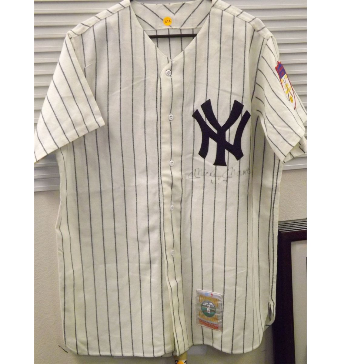 outlet store 6a8d2 fb3dd Mickey Mantle Autographed Jersey. NY Yankees Striped Mitchell and Ness  Cooperstown Collection Loose