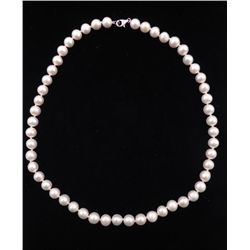 BEAUTIFUL CERTIFIED NATURAL FRESH WATER PEARL NECLACE