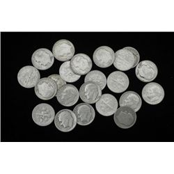 24 Dif Date Roosevelt Silver Dimes-Starter Set Many UNC