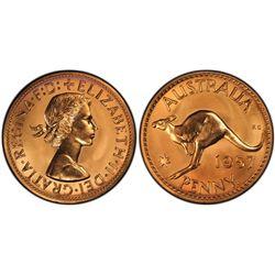 1957(p) Penny PCGS PR66RD
