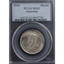 1914 Florin PCGS MS63