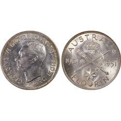 1951(m) Florin PCGS MS64 Jubilee