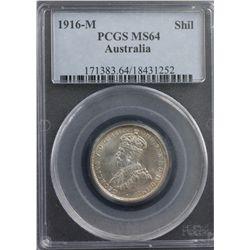1916-M Shilling PCGS MS64