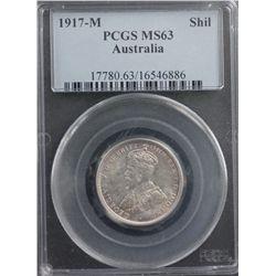 1917-M Shilling PCGS MS63
