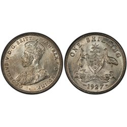 1927(m) Shilling PCGS MS63