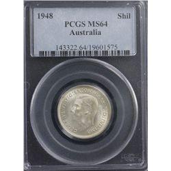 1948 Shilling PCGS MS64