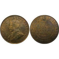 1917-I Penny PCGS MS64RB