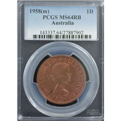 1958 Penny PCGS MS64 RB