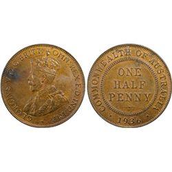 1936 ½ Penny PCGS MS63BN