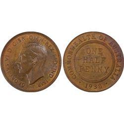 1938 ½ Penny PCGS MS63BN