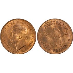 1942 I ½ Penny PCGS MS64RB