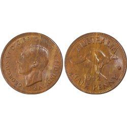 1942 P ½ Penny PCGS MS63BN