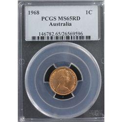 1968 1c PCGS MS65RD