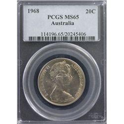 1968 20c PCGS MS65