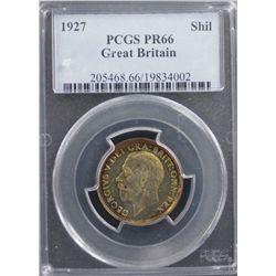 Great Britain 1927 Shilling PCGS PR66