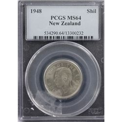 New Zealand 1948 Shilling PCGS MS64
